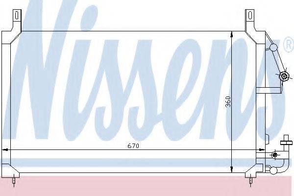 NISSENS 94424 Конденсатор, кондиционер