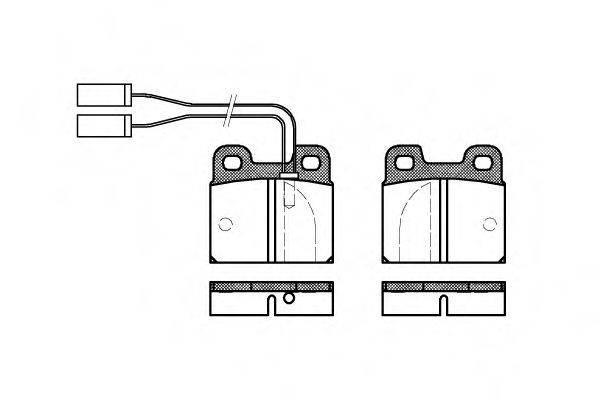 Комплект тормозных колодок, дисковый тормоз ROADHOUSE 2005.01