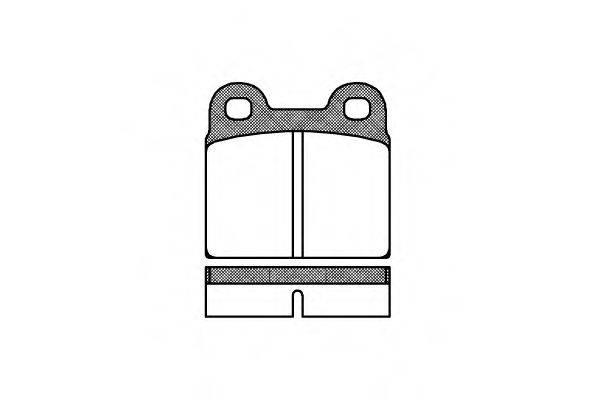 Комплект тормозных колодок, дисковый тормоз ROADHOUSE 2007.00