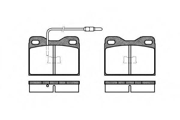 Комплект тормозных колодок, дисковый тормоз ROADHOUSE 2008.14