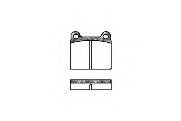 Комплект тормозных колодок, дисковый тормоз REMSA 0006.00