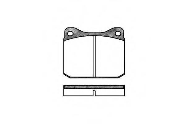 Комплект тормозных колодок, дисковый тормоз REMSA 0010.10