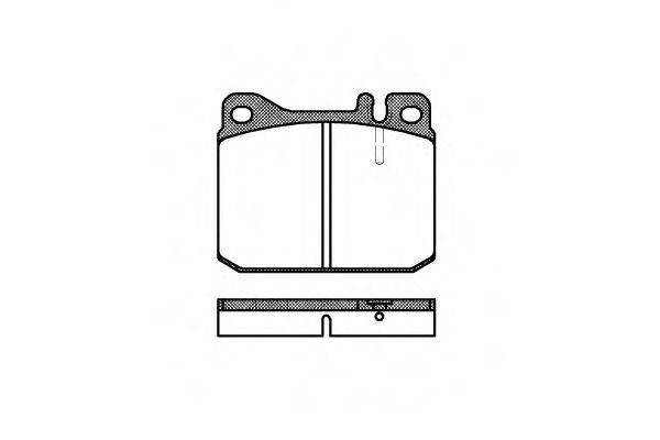 Комплект тормозных колодок, дисковый тормоз REMSA 0010.20