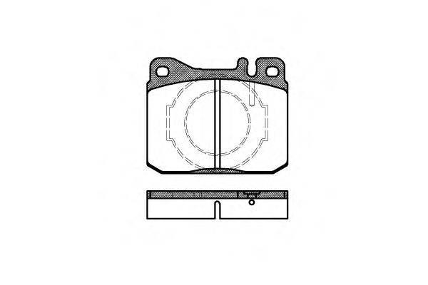Комплект тормозных колодок, дисковый тормоз REMSA 0010.40