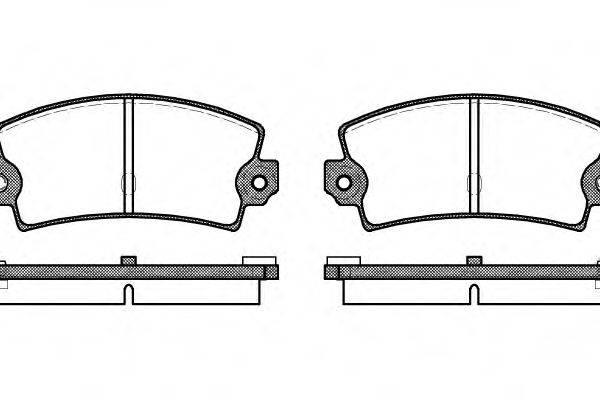 Комплект тормозных колодок, дисковый тормоз REMSA 0021.36