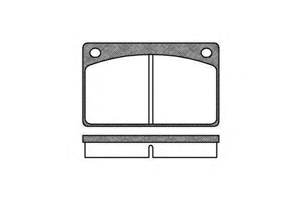 Комплект тормозных колодок, дисковый тормоз REMSA 0042.00