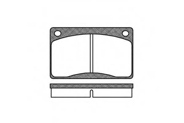 Комплект тормозных колодок, дисковый тормоз REMSA 0042.30