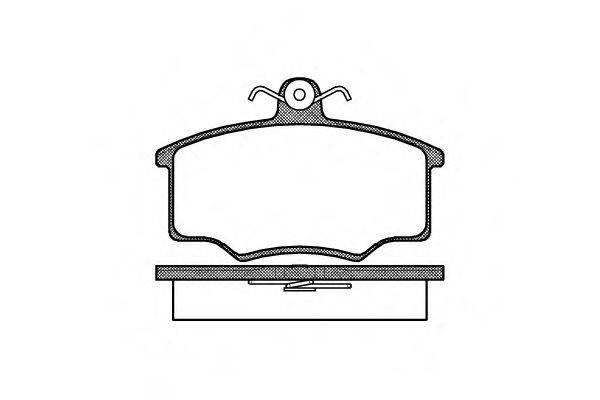 Комплект тормозных колодок, дисковый тормоз REMSA 0046.00