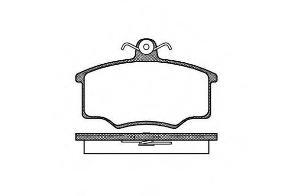 Комплект тормозных колодок, дисковый тормоз REMSA 0046.20