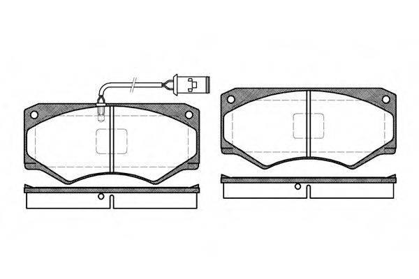 Комплект тормозных колодок, дисковый тормоз REMSA 0047.52