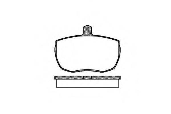 Комплект тормозных колодок, дисковый тормоз REMSA 0056.00