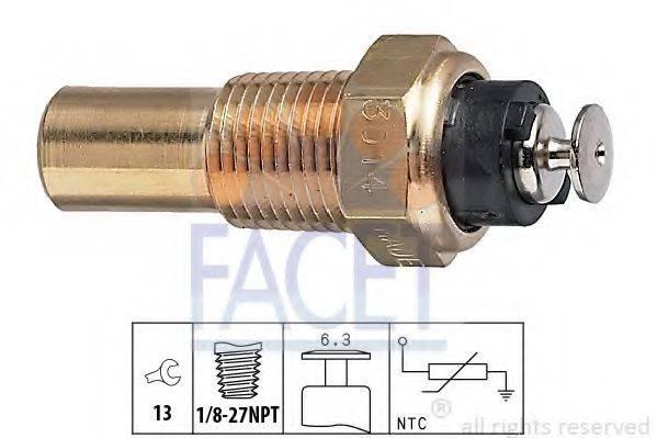 FACET 73014 Датчик, температура охлаждающей жидкости