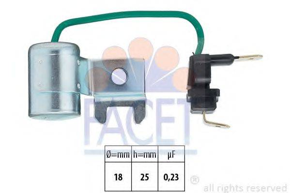 Конденсатор, система зажигания FACET 0.0179/96