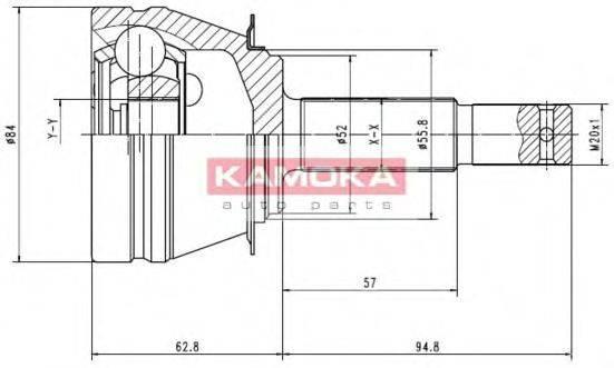 KAMOKA 6544 Шарнирный комплект, приводной вал