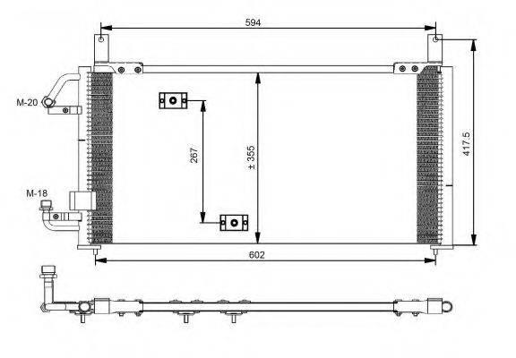 NRF 35197 Конденсатор, кондиционер