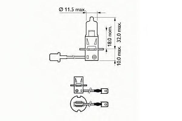 SCT GERMANY 202723 Лампа накаливания, фара дальнего света; Лампа накаливания, основная фара; Лампа накаливания, противотуманная фара; Лампа накаливания, основная фара; Лампа накаливания, фара дальнего света; Лампа накаливания, противотуманная фара