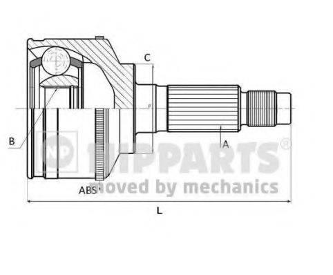 Шарнирный комплект, приводной вал NIPPARTS J2822141
