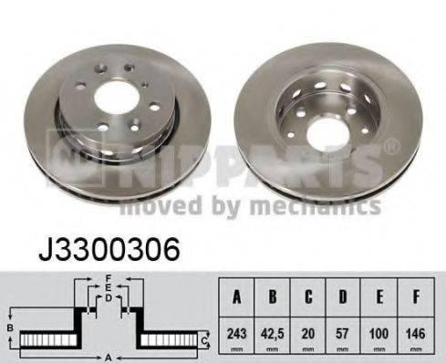 Тормозной диск NIPPARTS J3300306