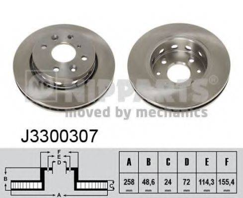 Тормозной диск NIPPARTS J3300307