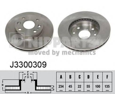 Тормозной диск NIPPARTS J3300309