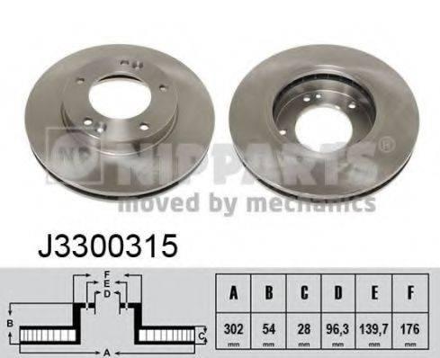 Тормозной диск NIPPARTS J3300315