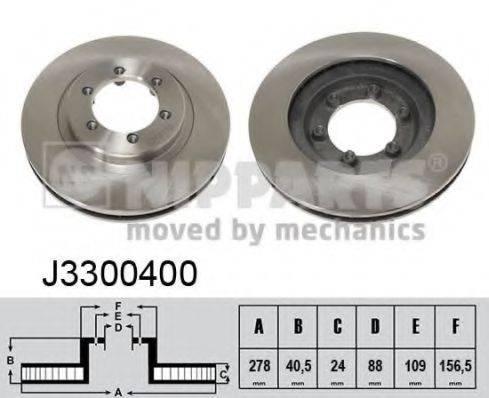 Тормозной диск NIPPARTS J3300400