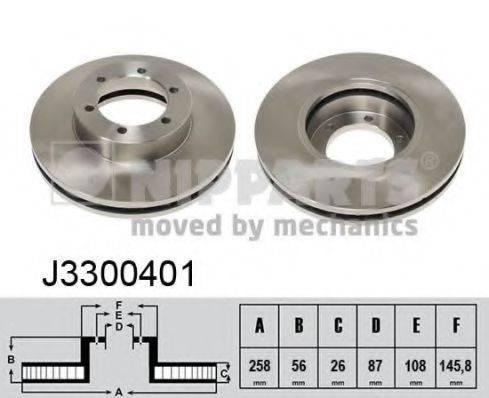 Тормозной диск NIPPARTS J3300401