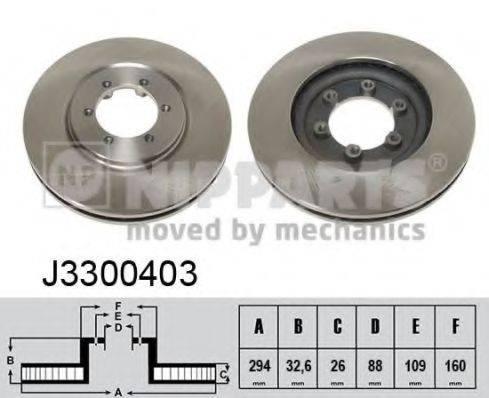 Тормозной диск NIPPARTS J3300403