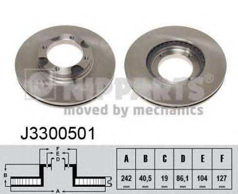 Тормозной диск NIPPARTS J3300501