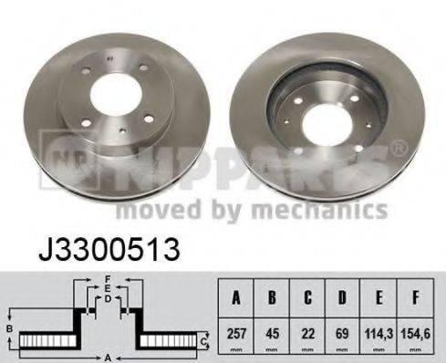 Тормозной диск NIPPARTS J3300513