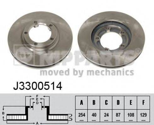 Тормозной диск NIPPARTS J3300514