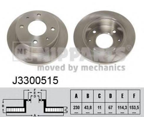Тормозной диск NIPPARTS J3300515
