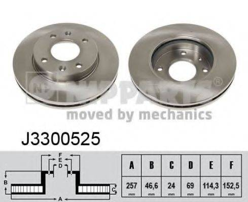 Тормозной диск NIPPARTS J3300525