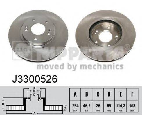 Тормозной диск NIPPARTS J3300526