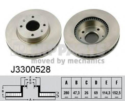 Тормозной диск NIPPARTS J3300528