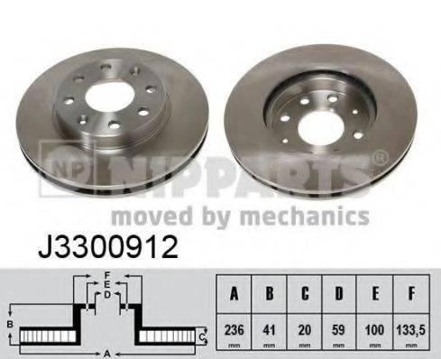 Тормозной диск NIPPARTS J3300912