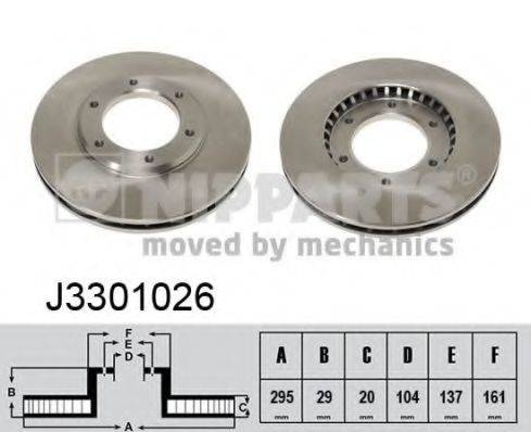 Тормозной диск NIPPARTS J3301026