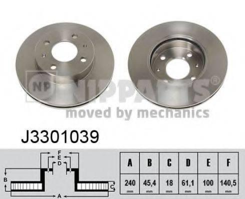 Тормозной диск NIPPARTS J3301039