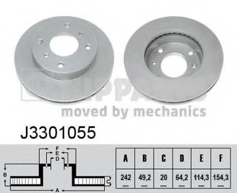 Тормозной диск NIPPARTS J3301055