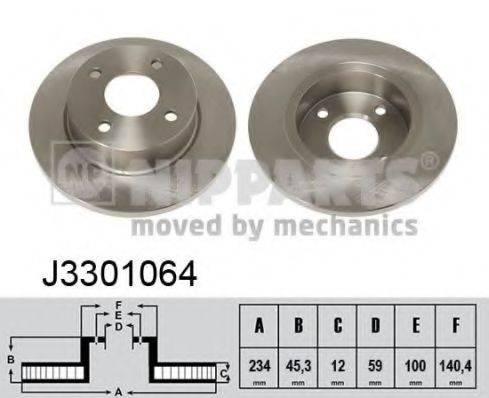 Тормозной диск NIPPARTS J3301064