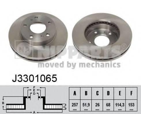 Тормозной диск NIPPARTS J3301065
