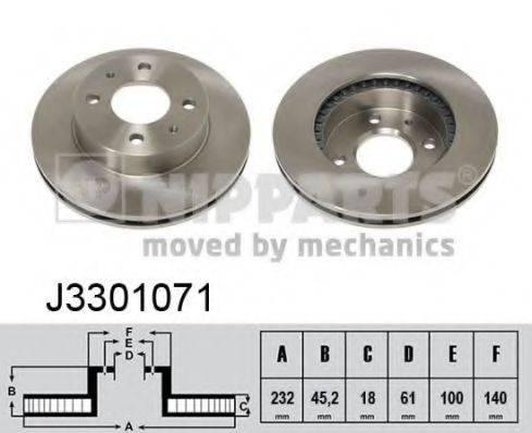 Тормозной диск NIPPARTS J3301071