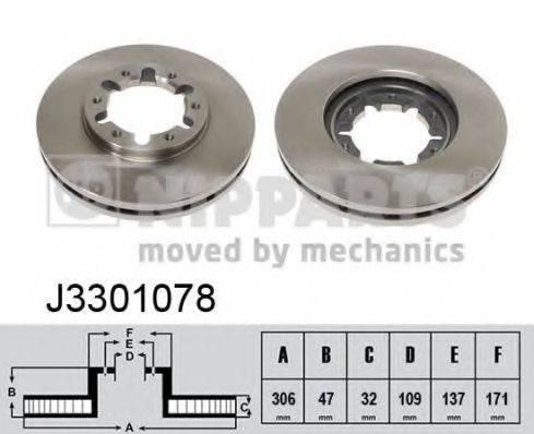 Тормозной диск NIPPARTS J3301078