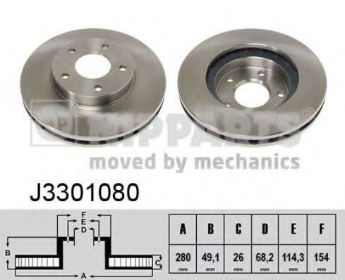 Тормозной диск NIPPARTS J3301080