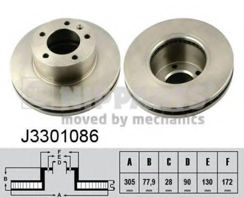 Тормозной диск NIPPARTS J3301086
