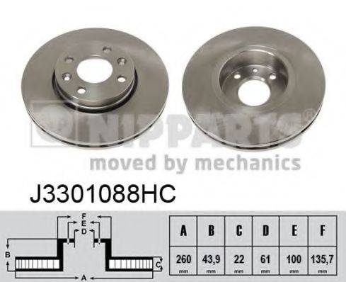 Тормозной диск NIPPARTS J3301088HC