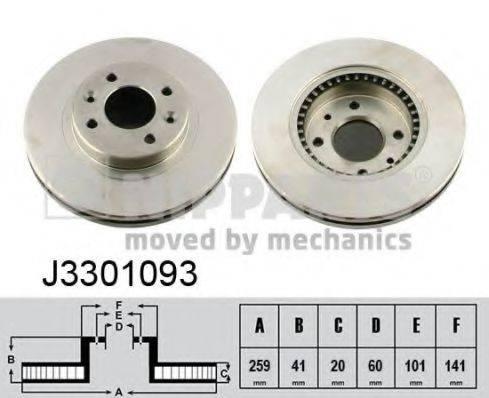 Тормозной диск NIPPARTS J3301093