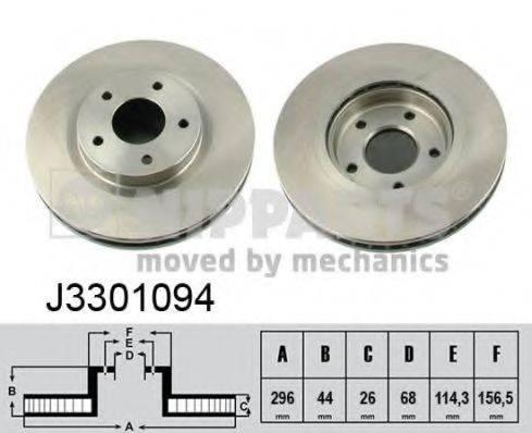 Тормозной диск NIPPARTS J3301094