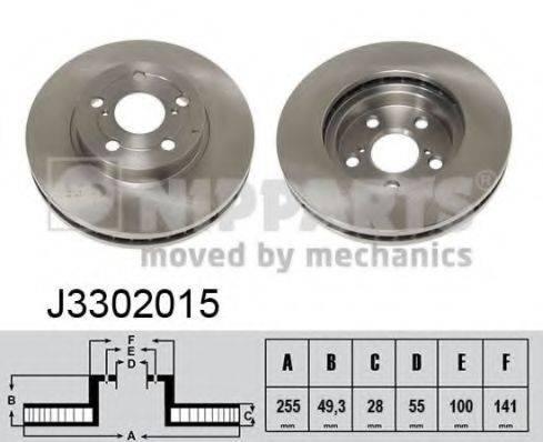 Тормозной диск NIPPARTS J3302015