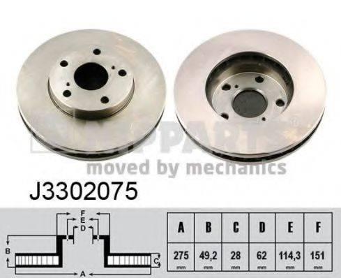 Тормозной диск NIPPARTS J3302075